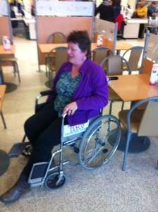 Liesl in wheelchair